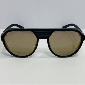 Other - Black Aviator Sunglasses with Side Blinders